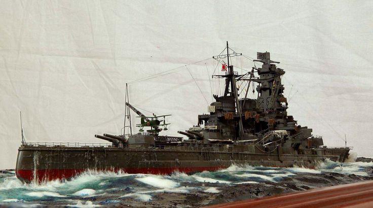 ijn battleship  u0026quot kongo u0026quot  diorama model