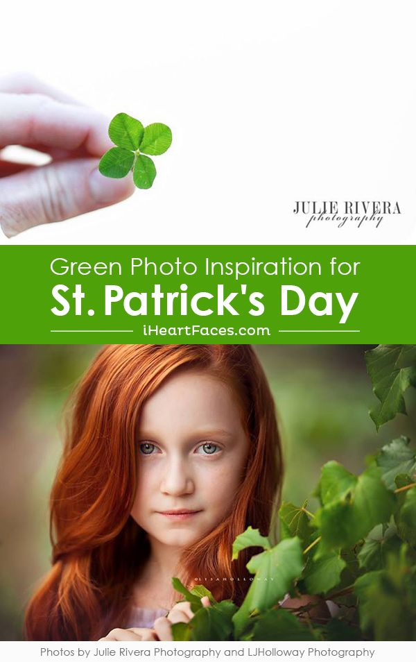 Beautiful St  Patrick  39 s Day Inspired Green Photo Ideas  See more on iHeartFaces com