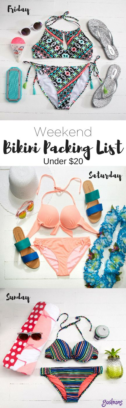 Are you ready for your weekend getaway? Mark off your vacation checklist with this bikini packing list perfect for any weekend trip.