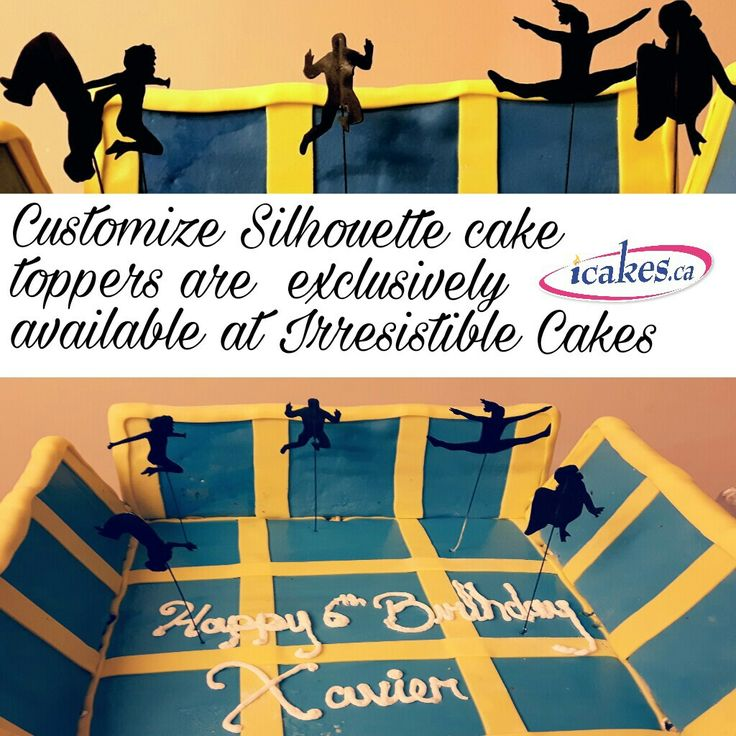 Different types of Silhouette cakes are exclusively available at Irresistible Cakes. We can do any kind of custom edible Silhouette shape topper or edible stencil! #silhouttecake #silhouette # #stencilcake #jumpingcake