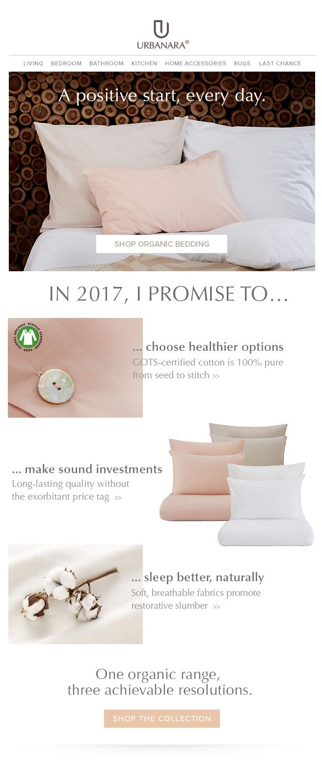 URBANARA newsletter template for home detox and natural, organic living. Follows us for tips and inspiration for your home decor, interior or fashion newsletters.