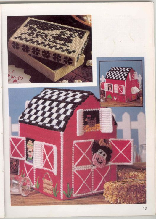 17 best images about plastic canvas houses on pinterest for Tissue box cover craft