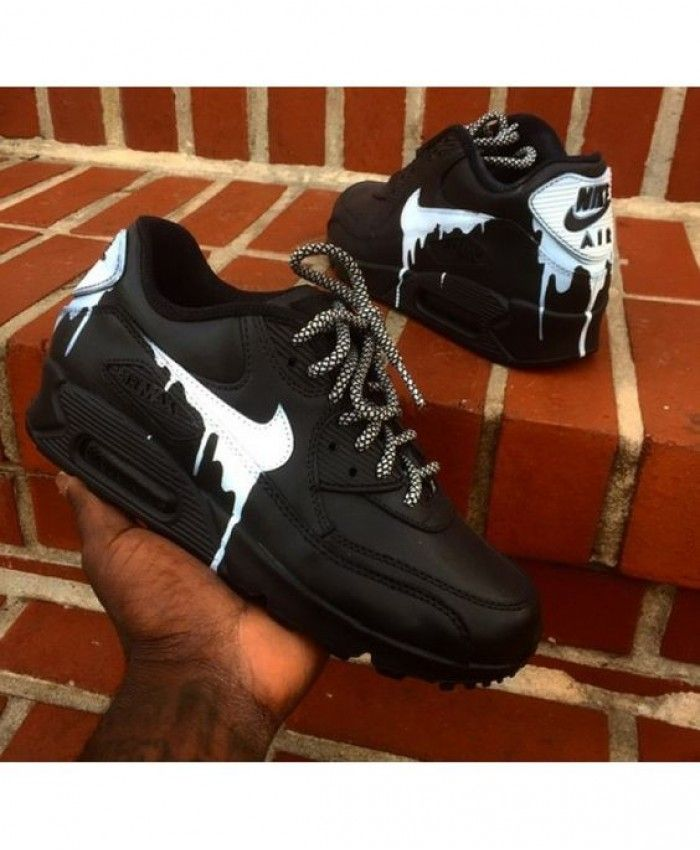 pretty nice f3964 d52a2 Nike Air Max 90 Candy Drip In Black White Trainer