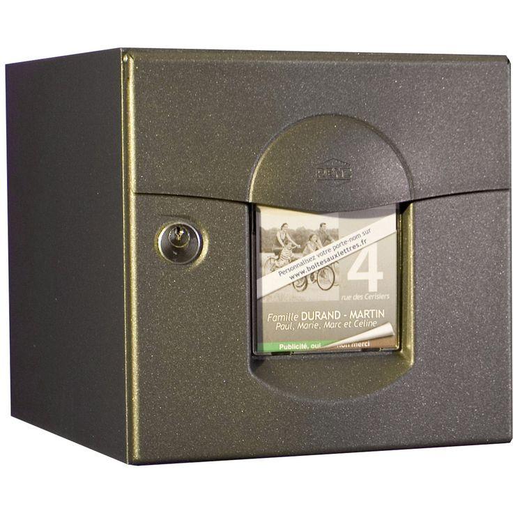 Boîte aux lettres RENZ normalisée gris anthracite en acier