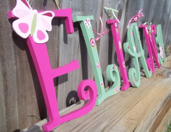 Nursery Hanging Wall Letters Baby Name