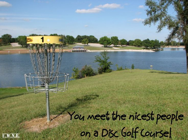 You meet the nicest people on a disc golf course!