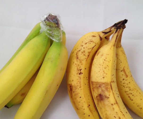 Wrap the top of the bananas with plastic wrap, they will keep 3-5 days longer. They need to keep isolated on the counter because they produc...