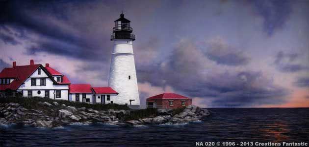Backdrop NA020 Lighthouse