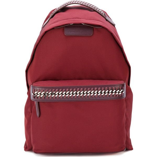 Stella Mccartney Falabella Go Backpack (£600) ❤ liked on Polyvore featuring bags, backpacks, bordeaux, backpack bags, lightweight daypack, nylon bag, lightweight backpack and day pack backpack