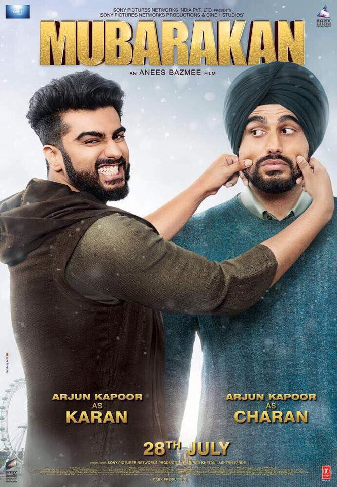 Mubarakan Official Poster | Anil Kapoor, Arjun Kapoor, Ileana D'Cruz, Athiya Shetty | Directed by Anees Bazmee | Movie Releasing on 28th July 2017. #Mubarakan #AnilKapoor #ArjunKapoor #IleanaDCruz, #AthiyaShetty #SonyPicturesNetworksProductions @tseries