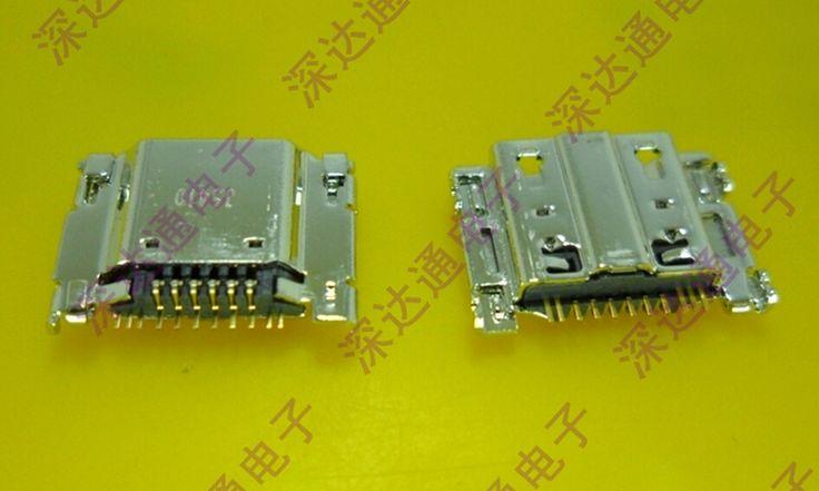 10ピースオリジナルミニマイクロusb充電ポート電源ジャック用サムスンギャラクシーs3 i9300 i9305 usbコネクタマイクロusbソケットピン