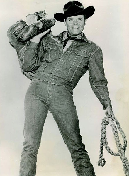 Jack Lord from the television program Stoney Burke.