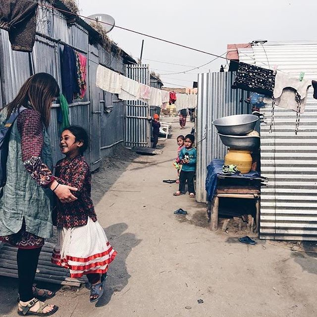 """""""Yesterday was a 'fill up my cup' day as we said yes to the Lord at every second. Here we were walking through a tin village built for a community that was leveled during the earthquake. My heart has this feeling of expectancy ALWAYS and yesterday I learned the true picture of church."""" // gram via @paigelindner6 #11n11  #Regram via @theworldrace"""