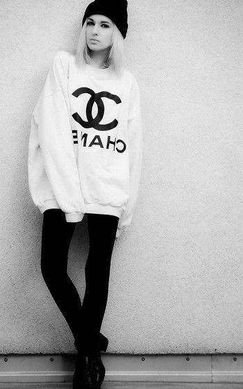 † COCO CHANEL † (by Karusza Krupińska) http://lookbook.nu/look/4636735-COCO-CHANEL h&m fashion style grunge