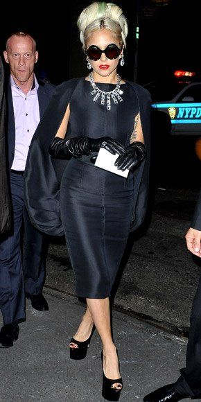 Lady Gaga in sky-high Brian Atwoods