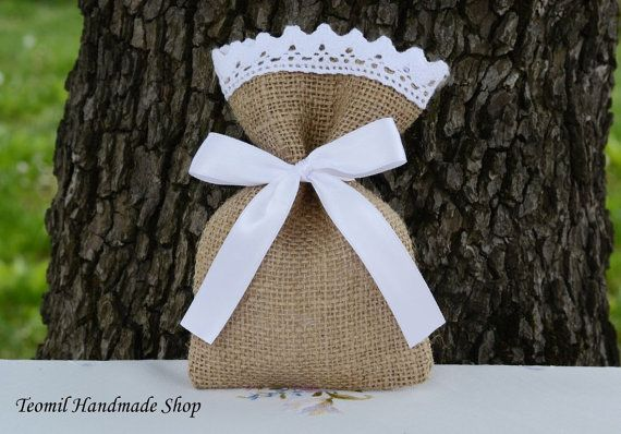 My Burlap Bags are highly versatile and can be used for any season!  As spring wedding favors, fill them with stalks of colorful wildflowers. In the