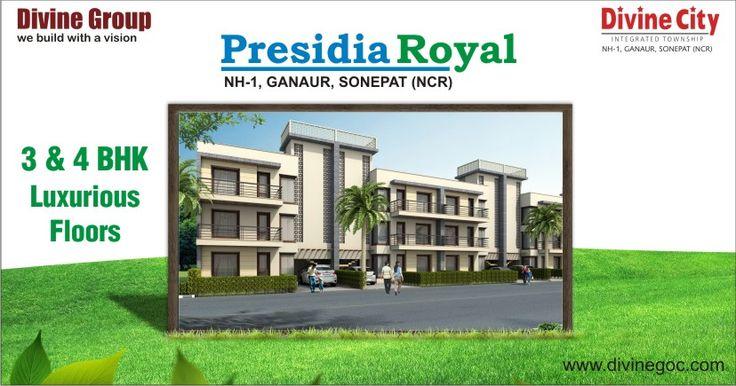 Presidia Royal - Luxury 3 and 4 BHK Floors in NH-1 Ganaur Sonipat.  enquiry@divinegoc.com  http://goo.gl/4DCy2M #presidiaroyal