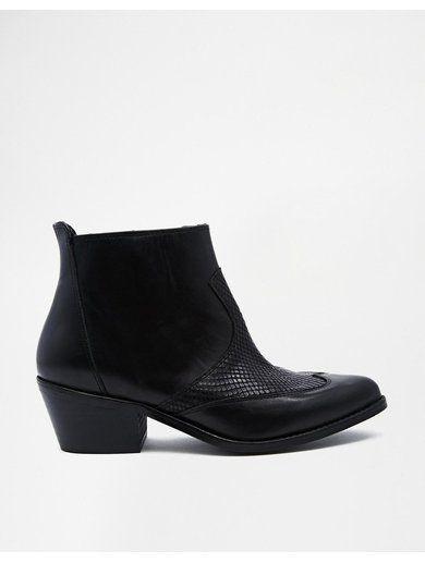 River Island True Black Western Boots - Black http://sellektor.com/all?q=river+island