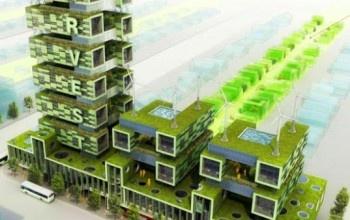 """La fattoria-grattacielo: progetto """"Harvest Green"""" dello studio Romses di Vancouver (Canada)."""