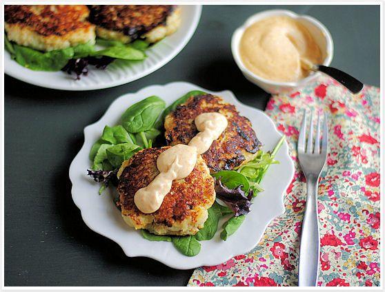 Fish Cakes with Paprika Lemon Mayo | Seafood Recipes | Pinterest