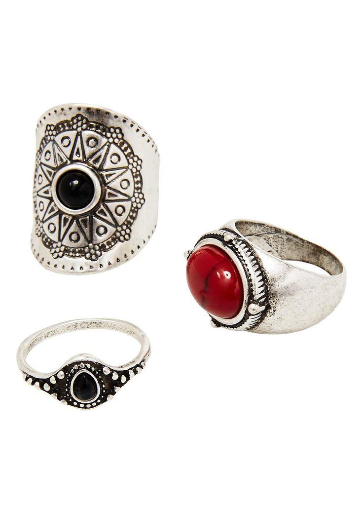 MANGO - Boho rings set: Amazon.co.uk: Clothing