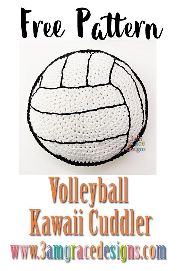 Volleyball Kawaii Cuddler amigurumi free crochet pattern