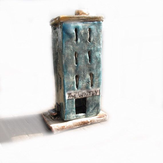 Handmade ceramic miniature urban city building incense burner home decor by salzanos on etsy - Handmade home decoration items collection ...