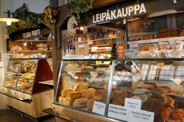 Tildan puoti bread shop at Kuopio Market Hall.