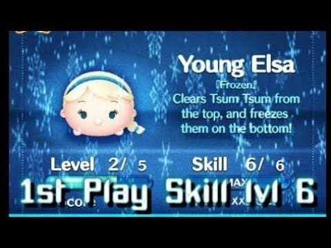 Let's Try It! - Young Elsa Skill lvl 6 (Disney Tsum Tsum) Frozen Edition - YouTube