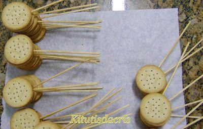 Como fazer Pirulito de bolacha Maria – Inspire sua Festa ®