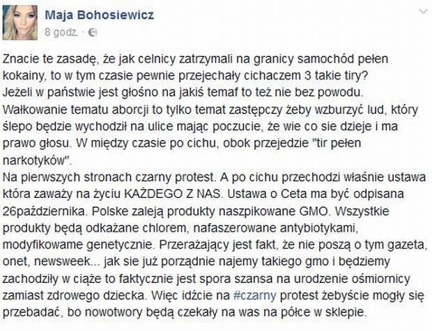 Znana aktorka wycofała poparcie dla #CzarnyMarsz. I padła ofiarą brutalnego hejtu | niezalezna.pl