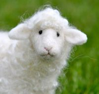 Needle Felted Sheep. Love his face !!