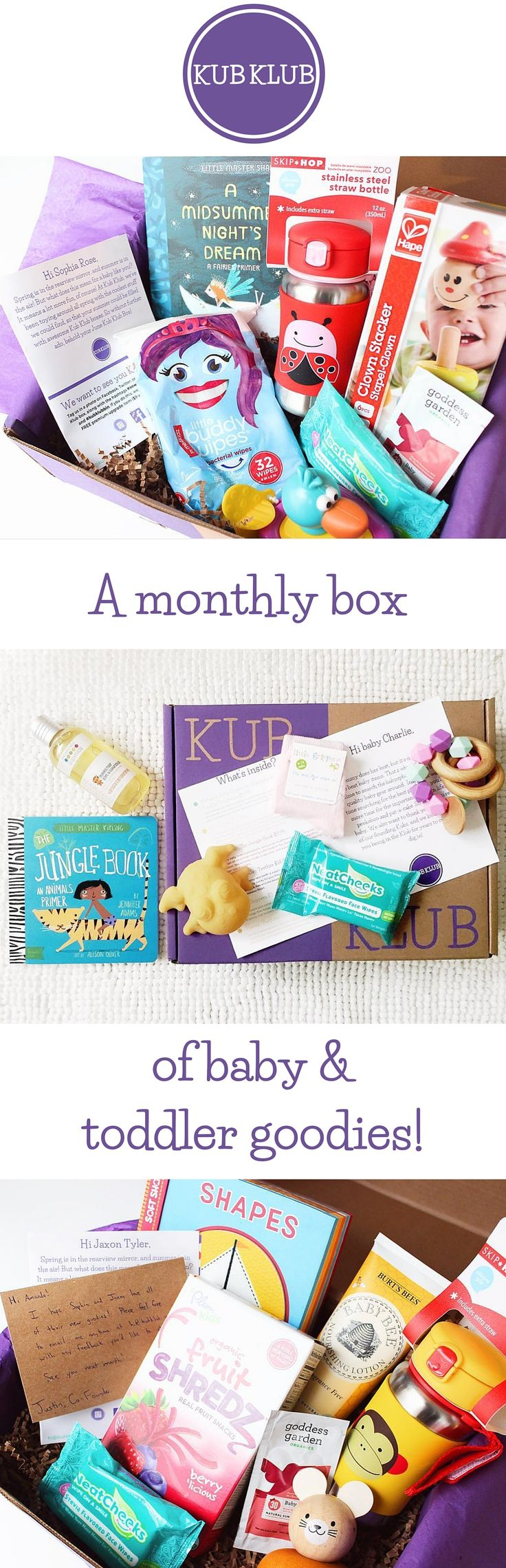 Kub Klub is a carefully curated box of baby and toddler toys, gear, and goodies…