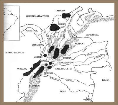 Resultado de imagen para Colombia Regiones orfebreria precolombina