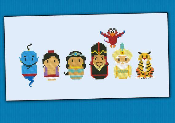 Aladdin parody - Cross stitch PDF pattern