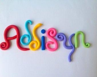 Fondant lettering....