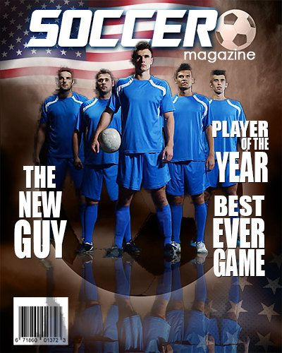 Soccer Photoshop Magazine Cover by arc4Studio on Etsy