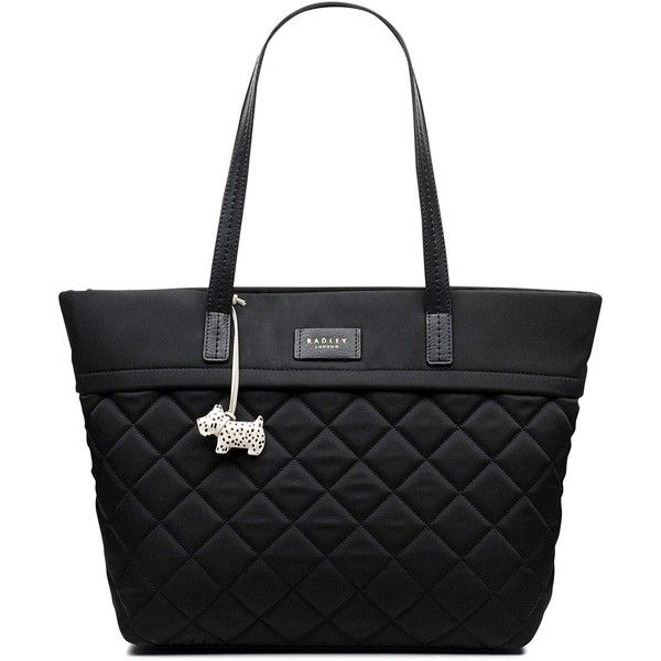 Radley Hilly Fields Large Ziptop Tote (€115) ❤ liked on Polyvore featuring bags, handbags, tote bags, handbags tote bags, tote hand bags, radley, radley handbags and tote handbags