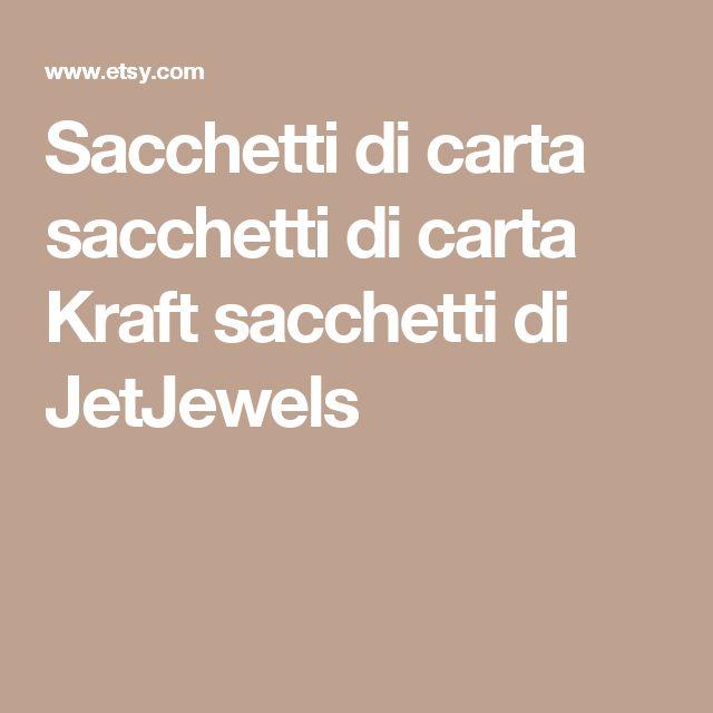 Sacchetti di carta sacchetti di carta Kraft sacchetti di JetJewels