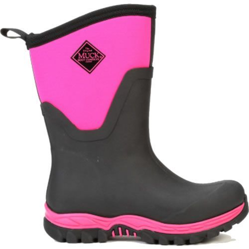 Muck Boots Arctic Sport II Mid Black And Hot Pink