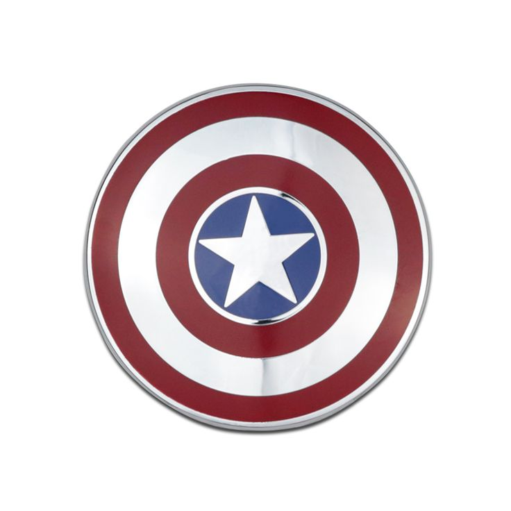 Car Sticker Emblem Badge Captain America Shield Metal 7x7cm Tuning Auto Motorcycle Car Styling Accessories