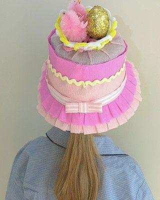 Crepe paper bonnet