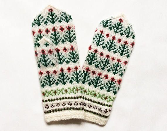 Mittens. Hand knitted mittens wool mittens colorful mittens