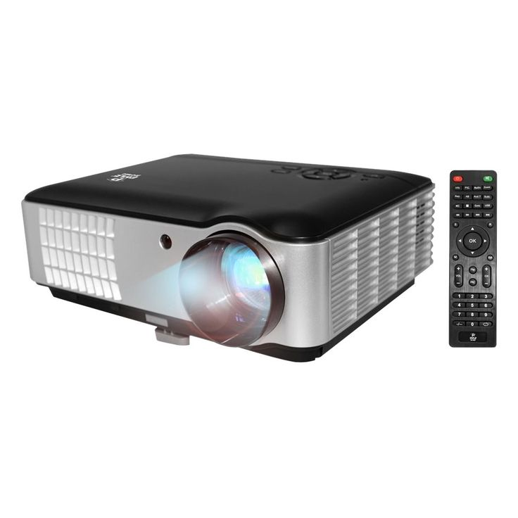Pyle - PRJLE78 LCD Projector - Black, Silver