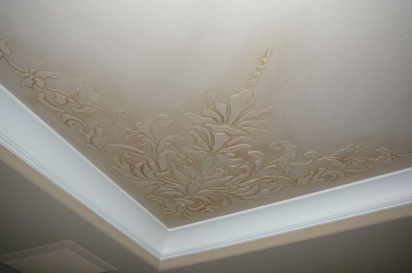 Painting A Tray Ceiling Ideas Dimensional Stencil With