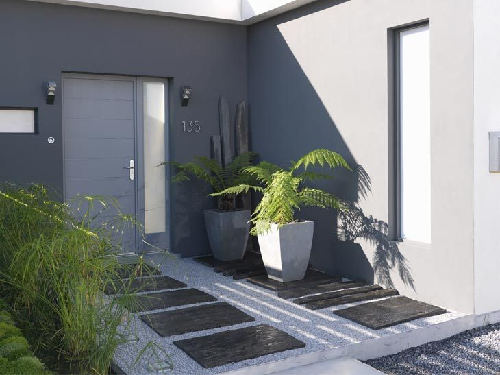 Les 25 meilleures id es concernant jardin en gravier sur pinterest concepti - Gravier autour de la maison ...