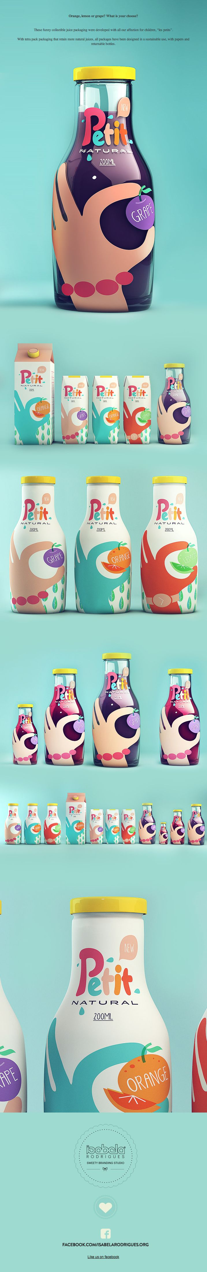 Petit - Natural Juice by Isabela Rodrigues, via Behance ***  #package #behance