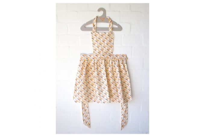 Striking Strelitzias Vintage Apron by handmade by me on hellopretty.co.za