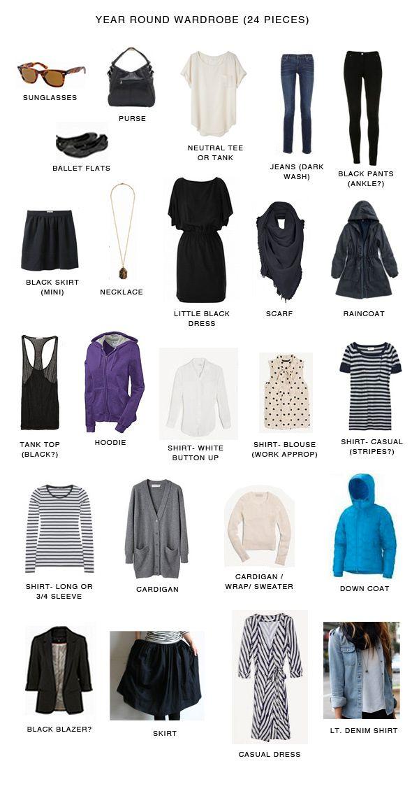 capsule wardrobe -24 pieces