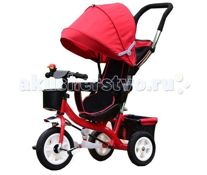 Велосипед трехколесный KidsCool HP-TC-006 надувные колеса  Детский трехколесный велосипед HP-TC-006 надувные колеса с ручкой толкателем и капюшоном.  Особенности: Ручка управления движением позволяет родителям одной рукой контролировать поездку и управлять велосипедом; защитный разъёмный поручень; складывающиеся подножки; складывающийся двух сегментный капюшон  Спинка с регулировкой угла наклона, 3 положения; удобные не проскальзывающие педали из рифленого пластика; металлическая…